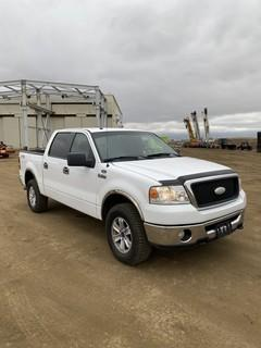 2008 Ford F-150 XTR 4X4 Crew Cab Pick Up c/w A/T, A/C, Showing 183,193 KMS. VIN # 1FTPW14VX8KE54927