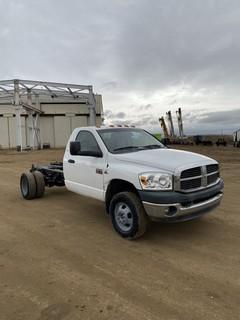 2008 Dodge 3500 SLT Dually Pick Up c/w Cummins Turbo Diesel, A/T. Showing 258,281 KMS. VIN # 3D6WH46A586139603