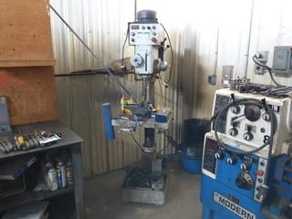 Modern DP-925GAD-B 220V Drill Press C/w KAI Shen 3-Phase Motor And Assorted Bits. SN F1206078
