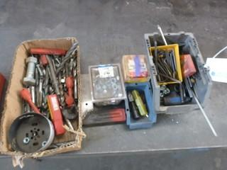 Qty Of Assorted Drill Bits And Misc Supplies
