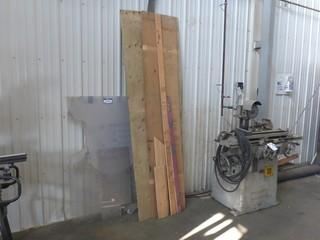 "4'8""  X  2'10"" Sheet Of Plexiglass C/w Assorted Size Pieces Of Plywood"