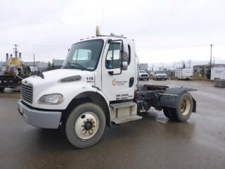 "Unit 118: 2007 Freightliner M2 Business Class S/A Truck Tractor C/w Cat C7, Allison A/T, 12,000lb frts, 23,000lb Rears, 150"" w/b. CVIP 1/2020. Showing 217,823kms And 8253Hrs. VIN 1FUBCYDC87HY87967"