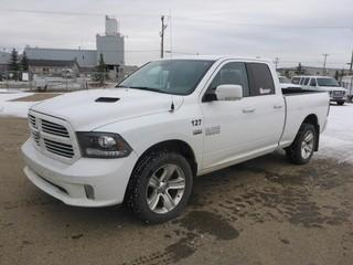 Unit 127: 2016 Dodge Ram 1500 4X4 Quad Cab Pick Up C/w 5.7L, A/T. Showing 71,330kms. VIN 1C6RR7HT3GS313022
