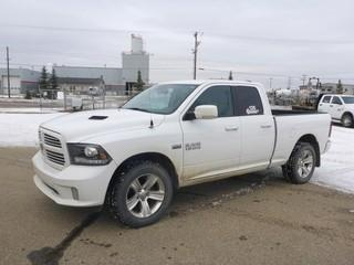 Unit 126: 2016 Dodge Ram 1500 4X4 Quad Cab Pick Up C/w 5.7L, A/T. Showing 77,963kms. VIN 1C6RR7HT6GS234041