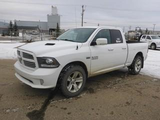 Unit 125: 2016 Dodge Ram 1500 4X4 Crew Cab Pick Up C/w 5.7L, A/T. Showing 116,489kms. VIN 1C6RR7HT0GS300356