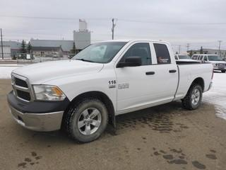 Unit 116: 2014 Dodge Ram 1500 4X4 Quad Cab Pick Up C/w 5.7L, A/T. Showing 148,648kms. VIN 1C6RR7FT3ES325056
