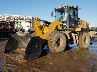 Unit 849: 2014 CAT 938K Wheel Loader C/w Q/C Bkt. SHOWING 11,328 hrs SN CAT0938KPXXT00439 *GRAPPLES AND FORKS SOLD ON DAY 5 AS LOTS 518,519 and 520*