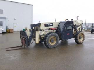 "Unit 204: 2004 Ingersoll Rand VR-1056C 4X4X4 Telescopic Forklift C/w Cummins 4.5L, 110HP, Q/A 48"" Forks, 4-Section Boom, Frt Out Riggers, CAB, 14.00 X 24 Tires. Showing 5345hrs. SN 178814"
