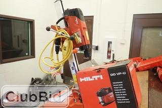 Hilti DD 160 Diamond Coring System w/ Hilti DD VP-U Vacuum Pump. **NEW & UNUSED**