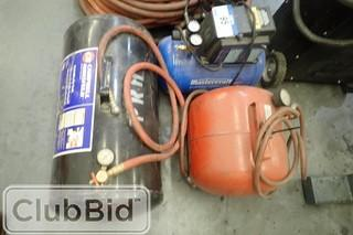 Lot of Mastercraft 3 Gallon Air Compressor w/ 2 Air tanks.