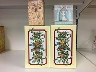 Lot of (4) Avon Perfume Bottles & Christmas Bells.