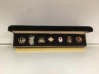 1984 Olympic Pin Set.
