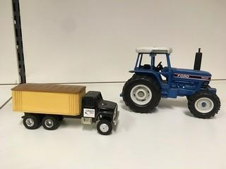 Lot of (1) Ertl Grain Truck & (1) Ford 8630 Ertl Diecast Tractor.