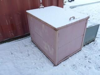 Metal Storage Box C/w Contents