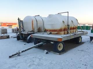 S/A Tow Behind Martin Farm Wagon C/w 1000 Gallon Poly Tank. SN 05570