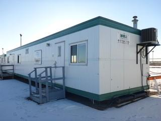 2008 60' x 12' Skid Mounted Office Trailer C/w Assortement Of Office Furniture And Misc Supplies. SN 172731260011N07. *Note: Buyer Responsible For Load Out*
