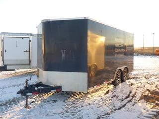 "2014 Royal Cargo 8'3"" X 18' T/A Enclosed Hydro Test Trailer C/w Ball Hitch, Pump Unit And Tank, Work Bench, Side And Rear Doors. VIN 2S9PK4314E3030839"