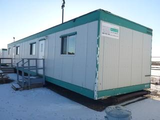 1997 60' x 12' Office Trailer C/w Assortement Of Office Furniture. SN 12481126006N97 *Note: Buyer Responsible For Load Out*