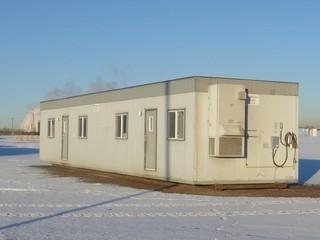 Atco 60' X 20' Skid Mounted Office Trailer C/w Assortment Of Office Furniture And Misc Supplies. SN 260981815 *Note: Buyer Responsible For Load Out*