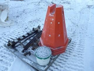 Qty Of Pipe Cones C/w Metal Brackets
