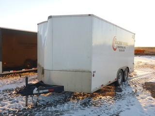 "2014 Royal Cargo 8'3"" X 18' T/A Enclosed Hydro Test Trailer C/w Ball Hitch, Pump Unit And Tank, Work Bench, Side And Rear Doors. VIN 2S9PK4318E3030083 *Note: Damage On Trailer*"