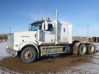 "2016 Western Star 4900SF T/A Truck Tractor C/w Detroit DD16, 560Hp, 18spd, 13,300lb Frt, A/R 46,000lb Rears, 46"" Sleeper, Pump, Double Lockups, 236"" w/b. Showing 266,901 Kms. VIN 5KJJAED17GPGW3252 *Note: Add 7,184 Hrs*"