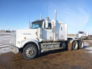 "2016 Western Star 4900SF T/A Truck Tractor C/w Detroit DD16, 560hp, 18spd, 13,300 Frt, A/R 46,000lb Rears, 46"" Sleeper, Double Lockups, 236"" w/b. Showing 7646 hrs, 322,091 Kms. VIN 5KJJAED15GPGW2861"