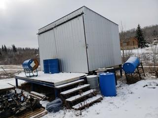10ft x 16ft Storage Shed, c/w Elevated Platform *Buyer Responsible For Load Out*