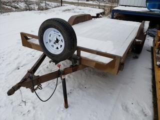 16ft Deck Trailer, Dual axle, Tire size ST225875R15, c/w Ramps * S/N Unknown*
