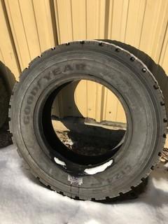 (1) Goodyear Tire 265/70R19.5, Rubber 100 Per Cent