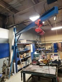 500 LBS Electronic Hoist c/w Jib Crane *Buyer Responsible For Load Out*