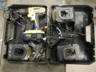 """DeWalt DC720 1/2"""" Cordless Drill, c/w (2) Batteries and (3) Chargers (W-1,1,2)"""