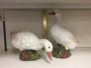 Set of (2) Duck Figurines.
