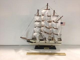 Whaling Ship Clipper 1846 Wooden Ship Model.