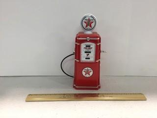 Texaco Gas Pump Diecast Coin Bank.