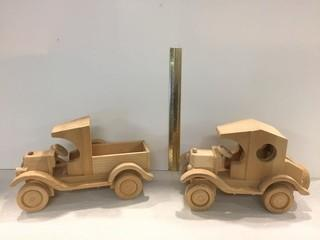 Lot of (2) Wooden Car/Truck Models.