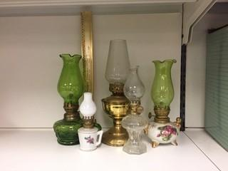 Lot of (5) Assorted Oil Lamps.