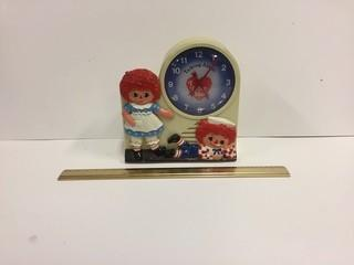Raggedy Ann & Andy Talking Alarm Clock.