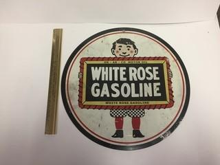 White Rose Gasoline Metal Sign.