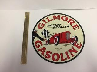Gilmour Gasoline Porcelain Sign.