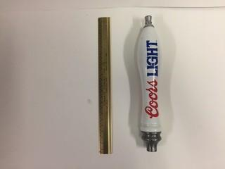 Coor's Light Beer Tap Handle.