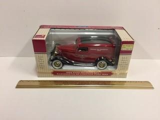 Liberty Classics 1934 Ford Canadian Tire Delivery Van Diecast Coin Bank, 1:25 Scale.