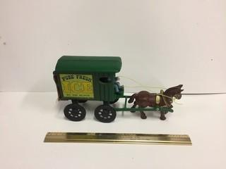 Cast Iron Horse & Buggy Model.