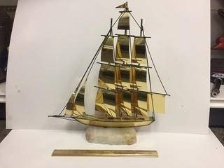 Brass & Stone Ship Model.