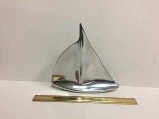 Hoselton Aluminum Sailboat Sculpture.