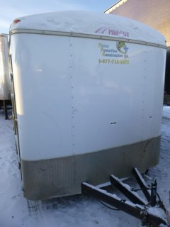 2013 Mirage T/A Enclosed Trailer C/w Ball Hitch, Side Door. VIN 5M3BE1624D1055995. Unit 4095.  *Note: Damage On Front*