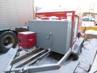 T/A Ground Heater E3000 C/w Thaw Lines, Pintle Hitch. Showing 10260hrs. SN 8000063. Unit 4060