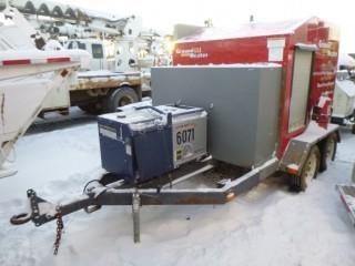 T/A Ground Heater E3000 C/w Thaw Lines, Pintle Hitch, Kubota Generator w/ 1357hrs. Showing 11656hrs. SN E3000-02099. Unit 4163