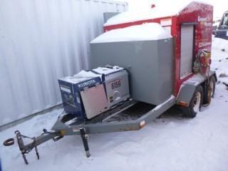 T/A Ground Heater E3000 C/w Kubota Generator, Pintle Hitch. Showing 14451hrs. SN E3000-02057. Unit 4166