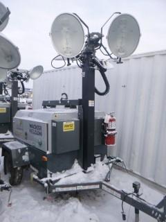 2014 Wacker Neuson LTW20 20Kw, Showing 8649 Hrs, S/A Light Tower C/w (4) Lights, 4Cyl Diesel, Pintle Hitch, Vertical Mast, Hyd Extension VIN 5XFLW0516EN003746. Unit 4125
